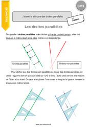 J'identifie et trace des droites parallèles – CM1 – Leçon