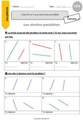 J'identifie et trace des droites parallèles – CM1 – Exercices avec correction