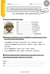 J'utilise un lexique varié et précis pour décrire un visage – CE2 – Exercices à imprimer