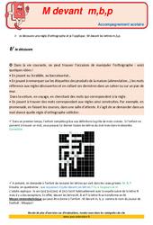 M devant mbp – CE2 – Soutien scolaire – Aide aux devoirs