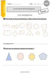 Je reconnais les différents polygones - CM2 - Exercices à imprimer