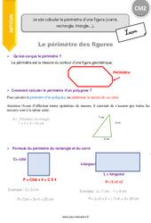 Je sais calculer le périmètre d'une figure (carré, rectangle, triangle…) – CM2 – Leçon