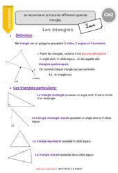 Je reconnais et je trace les différents types de triangles - CM2 - Leçon