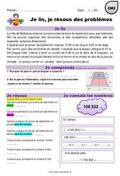 Multiplication et mesures  - CM2 - Je lis et je résous des problèmes