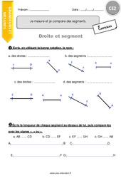 Je mesure et je compare des segments - CE2 - Exercices à imprimer