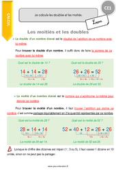 Je calcule les doubles et les moitiés – CE1 – Leçon