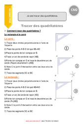 Je sais tracer des quadrilatères – CM2 – Leçon