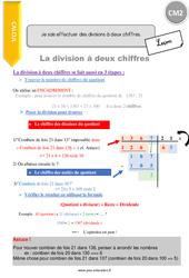 Je sais effectuer des divisions à deux chiffres – CM2 – Leçon