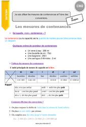 Je sais utiliser les mesures de contenances et faire des conversions – CM2 – Leçon