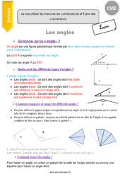 Je compare et trace des angles - CM2 - Leçon