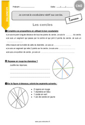 Je connais le vocabulaire relatif aux cercles - CM2 - Exercices à imprimer