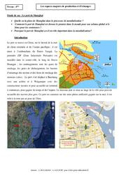 Le port de Shangaï - Les espaces majeurs de production et d'échanges – Etude de cas – 4ème