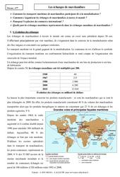Les échanges de marchandises – Cours – 4ème – Géographie