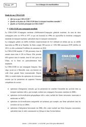 Les échanges de marchandises – Etude de cas – 4ème – CMA-CGM