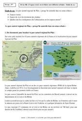 Le parc naturel régional du Pilat – Etude de cas – 3ème – La France