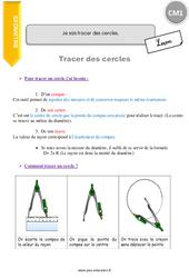 Je sais tracer des cercles – CM1 – Leçon