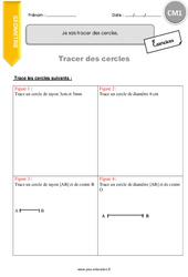 Je sais tracer des cercles – CM1 – Exercices à imprimer