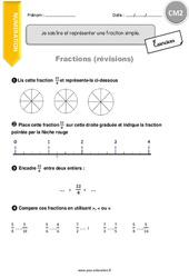 Je sais lire et représenter une fraction simple - CM2 - Exercices à imprimer
