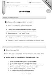 Le verbe - CM2 - Evaluation - Bilan