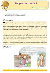 Le groupe nominal – CM1 – Soutien scolaire – Aide aux devoirs