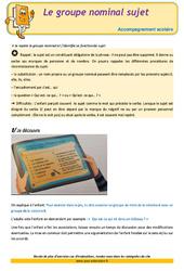 Le groupe nominal sujet – CM1 – Soutien scolaire – Aide aux devoirs