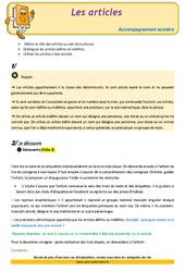 Les articles – CM1 – Soutien scolaire – Aide aux devoirs