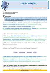 Les synonymes – CM1 – Soutien scolaire – Aide aux devoirs