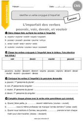 Exercice Imparfait De L Indicatif Cm1 Cycle 3