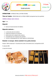 Addition statique – Opérations avec les perles dorées