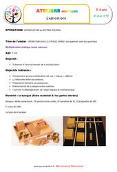 Multiplication statique - Opérations avec les perles dorées