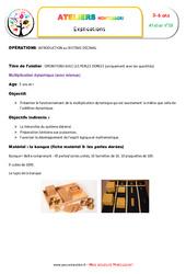 Multiplication dynamique – Opérations avec les perles dorées