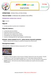Multiplication statique - Combiner quantités et symboles - Symboles et chiffres