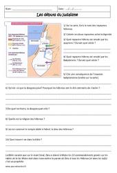 Débuts du judaïsme - Exercices corrigés - 6ème