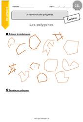 Je reconnais des polygones - CE1 - Exercices avec correction