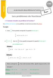Je sais résoudre des problèmes de fractions – CM2 – Leçon