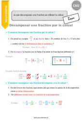 Je sais décomposer une fraction en utilisant le calcul – CM2 – Leçon