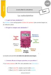 Savoir utiliser la calculatrice – CM2 – Leçon